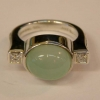 Judith Ripka Green Jadite Ring