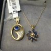Sapphire/Diamond Necklace with Sapphire Pendant