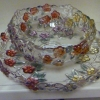 Glass Bowl/Plate Set